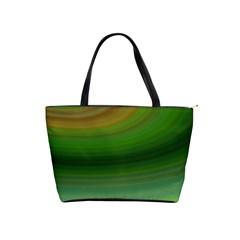 Green Background Elliptical Shoulder Handbags