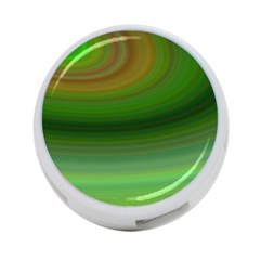 Green Background Elliptical 4 Port Usb Hub (one Side)