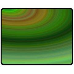 Green Background Elliptical Fleece Blanket (medium)