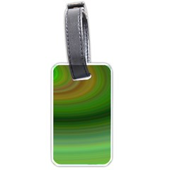 Green Background Elliptical Luggage Tags (one Side)