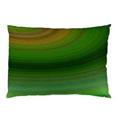 Green Background Elliptical Pillow Case (two Sides)