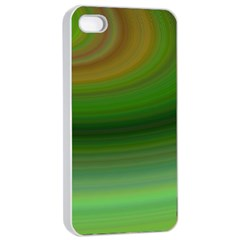 Green Background Elliptical Apple Iphone 4/4s Seamless Case (white)