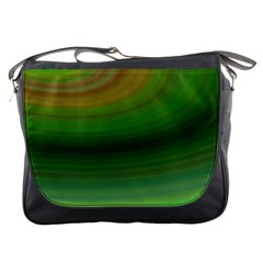 Green Background Elliptical Messenger Bags