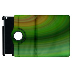 Green Background Elliptical Apple Ipad 2 Flip 360 Case by Nexatart
