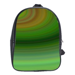 Green Background Elliptical School Bag (xl)