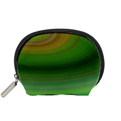 Green Background Elliptical Accessory Pouches (small)  by Nexatart