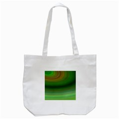 Green Background Elliptical Tote Bag (white)