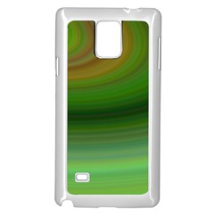 Green Background Elliptical Samsung Galaxy Note 4 Case (white)