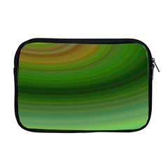 Green Background Elliptical Apple Macbook Pro 17  Zipper Case