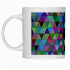 Triangle Tile Mosaic Pattern White Mugs by Nexatart