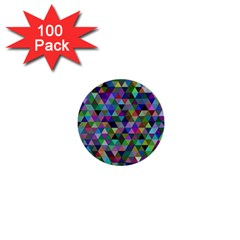 Triangle Tile Mosaic Pattern 1  Mini Buttons (100 Pack)  by Nexatart