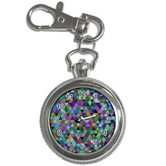 Triangle Tile Mosaic Pattern Key Chain Watches by Nexatart