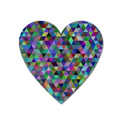 Triangle Tile Mosaic Pattern Heart Magnet by Nexatart