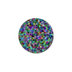Triangle Tile Mosaic Pattern Golf Ball Marker by Nexatart