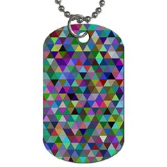 Triangle Tile Mosaic Pattern Dog Tag (two Sides)