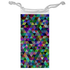Triangle Tile Mosaic Pattern Jewelry Bag