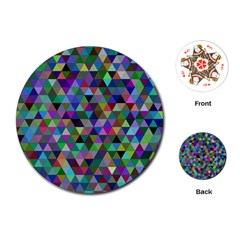 Triangle Tile Mosaic Pattern Playing Cards (round)