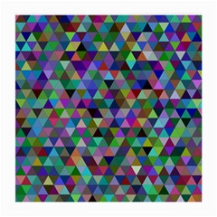 Triangle Tile Mosaic Pattern Medium Glasses Cloth (2 Side)