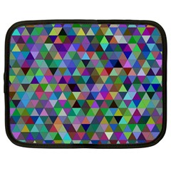 Triangle Tile Mosaic Pattern Netbook Case (large)