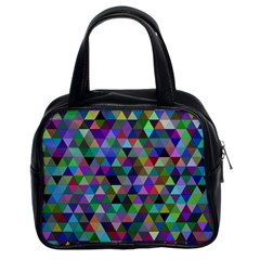 Triangle Tile Mosaic Pattern Classic Handbags (2 Sides) by Nexatart