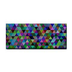 Triangle Tile Mosaic Pattern Cosmetic Storage Cases by Nexatart