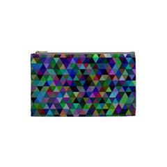 Triangle Tile Mosaic Pattern Cosmetic Bag (small)
