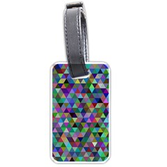 Triangle Tile Mosaic Pattern Luggage Tags (two Sides)
