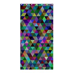 Triangle Tile Mosaic Pattern Shower Curtain 36  X 72  (stall)  by Nexatart