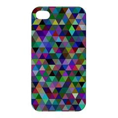 Triangle Tile Mosaic Pattern Apple Iphone 4/4s Hardshell Case by Nexatart