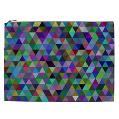 Triangle Tile Mosaic Pattern Cosmetic Bag (xxl)  by Nexatart