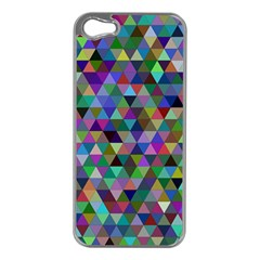 Triangle Tile Mosaic Pattern Apple Iphone 5 Case (silver) by Nexatart