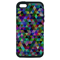 Triangle Tile Mosaic Pattern Apple Iphone 5 Hardshell Case (pc+silicone) by Nexatart