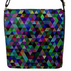 Triangle Tile Mosaic Pattern Flap Messenger Bag (s)