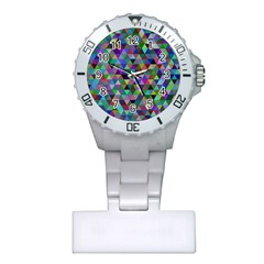 Triangle Tile Mosaic Pattern Plastic Nurses Watch