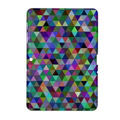 Triangle Tile Mosaic Pattern Samsung Galaxy Tab 2 (10 1 ) P5100 Hardshell Case