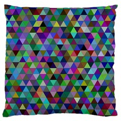 Triangle Tile Mosaic Pattern Standard Flano Cushion Case (two Sides) by Nexatart
