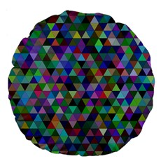 Triangle Tile Mosaic Pattern Large 18  Premium Flano Round Cushions by Nexatart