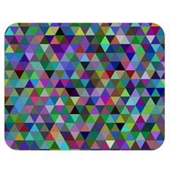 Triangle Tile Mosaic Pattern Double Sided Flano Blanket (medium)  by Nexatart