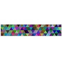 Triangle Tile Mosaic Pattern Flano Scarf (large) by Nexatart