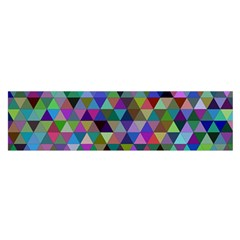 Triangle Tile Mosaic Pattern Satin Scarf (oblong)
