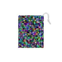 Triangle Tile Mosaic Pattern Drawstring Pouches (xs)