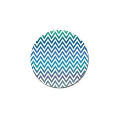 Blue Zig Zag Chevron Classic Pattern Golf Ball Marker (10 Pack) by Nexatart