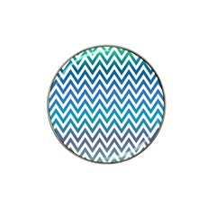 Blue Zig Zag Chevron Classic Pattern Hat Clip Ball Marker (4 Pack) by Nexatart