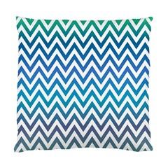Blue Zig Zag Chevron Classic Pattern Standard Cushion Case (two Sides) by Nexatart