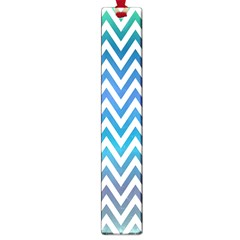 Blue Zig Zag Chevron Classic Pattern Large Book Marks