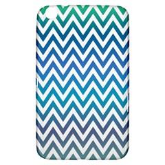 Blue Zig Zag Chevron Classic Pattern Samsung Galaxy Tab 3 (8 ) T3100 Hardshell Case