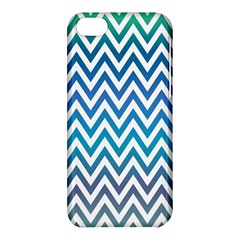 Blue Zig Zag Chevron Classic Pattern Apple Iphone 5c Hardshell Case