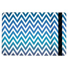 Blue Zig Zag Chevron Classic Pattern Ipad Air Flip by Nexatart