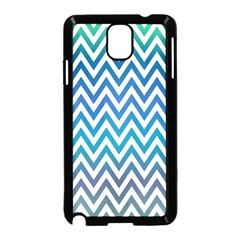 Blue Zig Zag Chevron Classic Pattern Samsung Galaxy Note 3 Neo Hardshell Case (black)