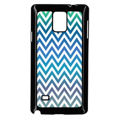 Blue Zig Zag Chevron Classic Pattern Samsung Galaxy Note 4 Case (black)